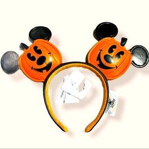 NWT Disney Parks Pumpkin  Mickey Mouse Ears